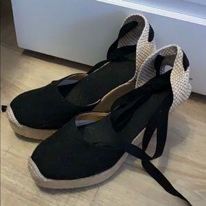 Shoes - Black Espadrilles new never worn size 9 euro 40